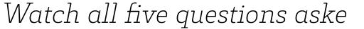 Decour Ultralight Italic sample