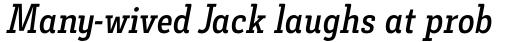 Decour Condensed Semibold Italic sample