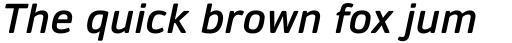 Daytona Pro Semibold Italic sample