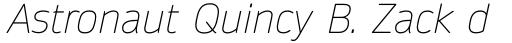 Daytona Pro Thin Italic sample