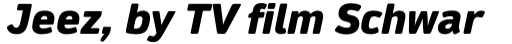 Daytona Pro Fat Italic sample
