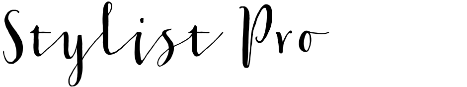 Click to view  Stylist Pro font, character set and sample text