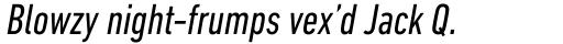 DIN Next Pro Condensed Italic sample