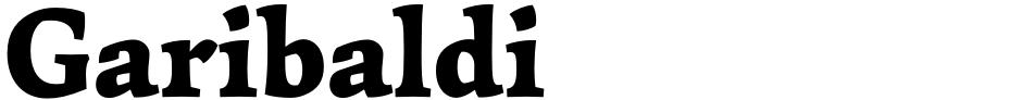 Click to view  Garibaldi font, character set and sample text