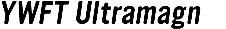 Click to view  YWFT Ultramagnetic font, character set and sample text