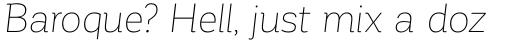 Corporative Thin Italic sample