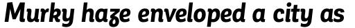 Corporative Alt Condensed Bold Italic sample