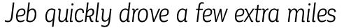 Corporative Alt Condensed Book Italic sample