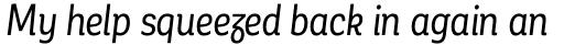 Corporative Alt Condensed Regular Italic sample