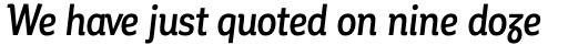 Corporative Alt Condensed Medium Italic sample