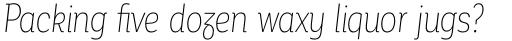 Corporative Alt Condensed Thin Italic sample