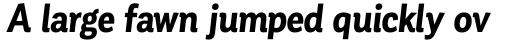 Corporative Condensed Bold Italic sample