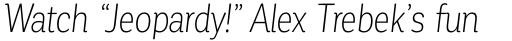 Corporative Condensed Light Italic sample