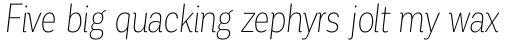 Corporative Condensed Thin Italic sample