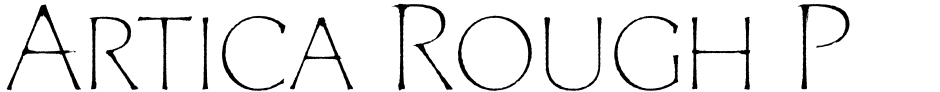 Click to view  Artica Rough Pro font, character set and sample text