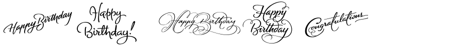 Click to view  FM Birthday 1.0 font, character set and sample text