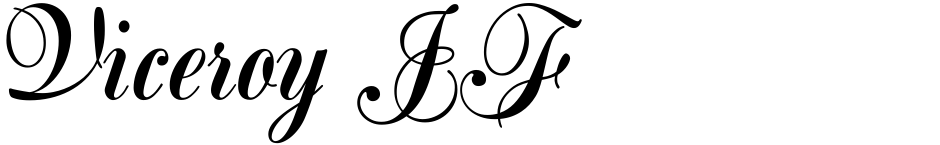 Click to view  Viceroy JF font, character set and sample text