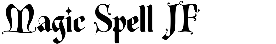 Click to view  Magic Spell JF font, character set and sample text