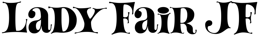 Click to view  Lady Fair JF font, character set and sample text