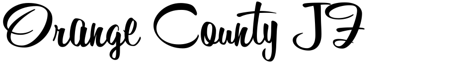 Click to view  Orange County JF font, character set and sample text