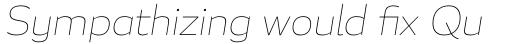 Blanc Thin Italic sample