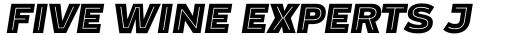 Blanc Inline Heavy Italic sample