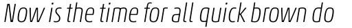 Akko Pro Condensed Thin Italic sample