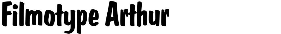 Click to view  Filmotype Arthur font, character set and sample text