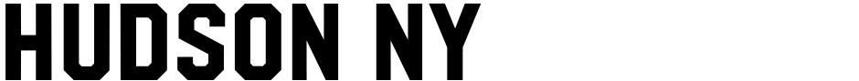 Click to view  Hudson NY font, character set and sample text