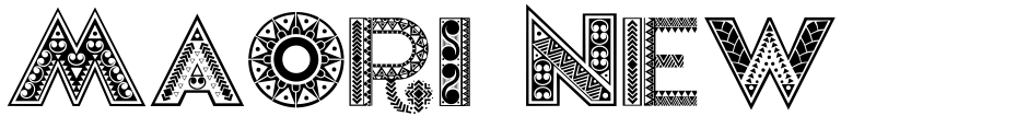 Click to view  Maori New Zeeland font, character set and sample text