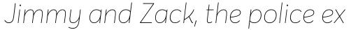 Averta ExtraThin Italic sample