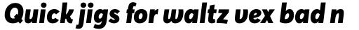 Averta Black Italic sample