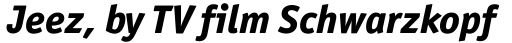 Officina Sans ExtraBold Italic sample