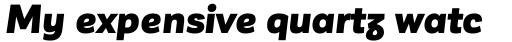 Corporative Sans Alt Black Italic sample