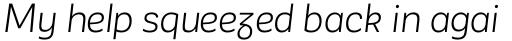 Corporative Sans Alt Book Italic sample