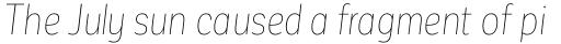 Corporative Sans Alt Condensed Hair Italic sample