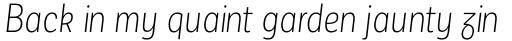 Corporative Sans Alt Condensed Light Italic sample