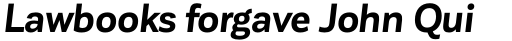 Corporative Sans Bold Italic sample