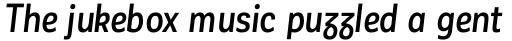 Corporative Sans Alt Condensed Medium Italic sample