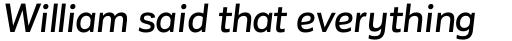 Corporative Sans Alt Medium Italic sample