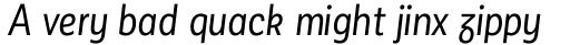 Corporative Sans Alt Condensed Regular Italic sample