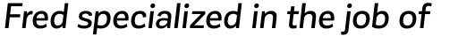 Corporative Sans Medium Italic sample