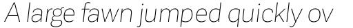 Corporative Sans Thin Italic sample
