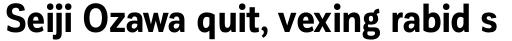 Corporative Sans Condensed Bold sample