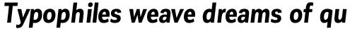 Corporative Sans Condensed Bold Italic sample