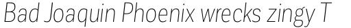 Corporative Sans Condensed Thin Italic sample