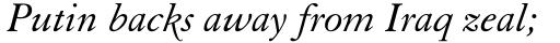 Elegant Garamond Std Italic sample