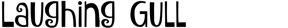 Click to view  Laughing Gull font, character set and sample text