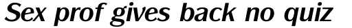 ITC Panache Bold Italic sample