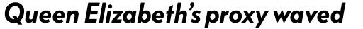 FF Bauer Grotesk Pro Demi Bold Italic sample